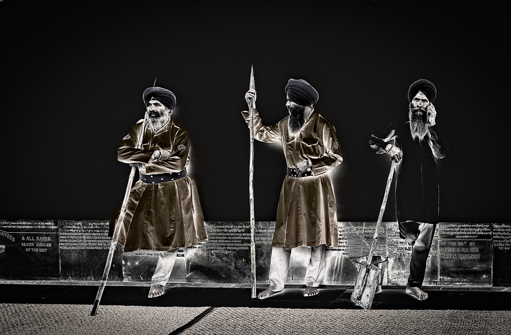 Sikh guards at the Golden Temple