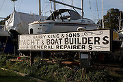 Harry King and sons, Boat builders, Pin Mill, Suffolk, England