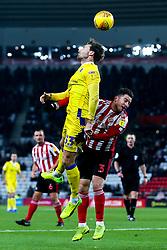Alex Rodman of Bristol Rovers beats Bryan Oviedo of Sunderland to a header - Mandatory by-line: Robbie Stephenson/JMP - 15/12/2018 - FOOTBALL - Stadium of Light - Sunderland, England - Sunderland v Bristol Rovers - Sky Bet League One