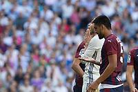Real Madrid's Garet Bale during the match of La Liga between Real Madrid and SD Eibar at Santiago Bernabeu Stadium in Madrid. October 02, 2016. (ALTERPHOTOS/Rodrigo Jimenez)