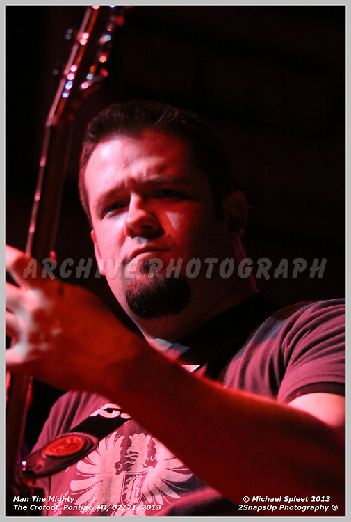 PONTIAC, MI, THURSDAY, FEB. 21, 2013: Man The Mighty, at The Crofoot, Pontiac, MI, 02/21/2013.  (Image Credit: Michael Spleet / 2SnapsUp Photography)