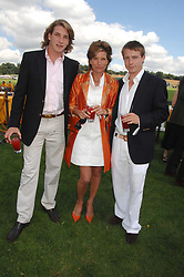SARAH HUNT widow of racing driver James Hunt and her sons, Left FREDDIE HUNT and right TOM HUNT at the final of the Veuve Clicquot Gold Cup 2007 at Cowdray Park, West Sussex on 22nd July 2007.<br /><br />NON EXCLUSIVE - WORLD RIGHTS