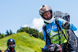 Bostjan Porocnik pilot for Slovenian national team during 16th paraglide competition Ratitovec Open 2016, Železniki, Porezen, on 10th of July in Slovenia. Photo by Grega Valancic / Sportida