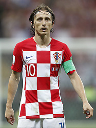 Luka Modric of Croatia during the 2018 FIFA World Cup Russia Final match between France and Croatia at the Luzhniki Stadium on July 15, 2018 in Moscow, Russia