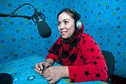 Afghanstan. Mazar-e-Sharif. Mobina Saikhirandhish, 30, radio journalist/paralegal at Radio Rabea Balkhi, women's radio station