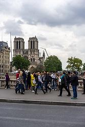 May 3, 2019 - Paris, France - Cathedrale de Notre-Dame de Paris en reconstruction (Credit Image: © Panoramic via ZUMA Press)