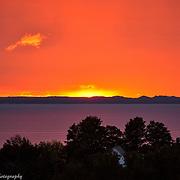 Late Fall Lake Michigan Sunset