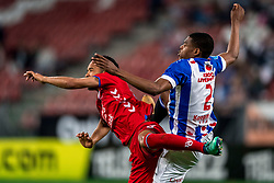 12-05-2018 NED: FC Utrecht - Heerenveen, Utrecht<br /> FC Utrecht win second match play off with 2-1 against Heerenveen and goes to the final play off / Urby Emanuelson #18 of FC Utrecht, Denzel Dumfries #2 of SC Heerenveen