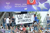 banner against LOI TRAVAIL <br /> Reggio Emilia 26-05-2016 <br /> Wolfsburg - Lyon <br /> Women's Champions League Final . Foto Andrea Staccioli / Insidefoto