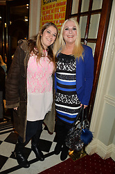 Left to right and SASKIA KURER her mother VANESSA FELTZ at Beautiful - The Carole King Musical 1st Birthday celebration evening at The Aldwych Theatre, London on 23rd February 2016.
