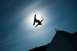 February 18, 2018 - Pyeongchang, South Korea - BENOIT BURATTI of France takes to the air during Men's Ski Slopestyle qualifications at Phoenix Snow Park at the Pyeongchang Winter Olympic Games.  Buratti did not qualify for Sunday's finals.  (Credit Image: © Mark Reis via ZUMA Wire)