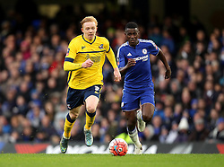 Luke Williams of Scunthorpe United gets away from Ramires of Chelsea - Mandatory byline: Robbie Stephenson/JMP - 10/01/2016 - FOOTBALL - Stamford Bridge - London, England - Chelsea v Scunthrope United - FA Cup Third Round