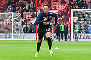 Nathaniel Clyne (23) of Bournemouth warming up before the The FA Cup 3rd round match between Bournemouth and Brighton and Hove Albion at the Vitality Stadium, Bournemouth, England on 5 January 2019.