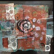Acrylic Collage on Cradled Panel<br /> 10 x 10