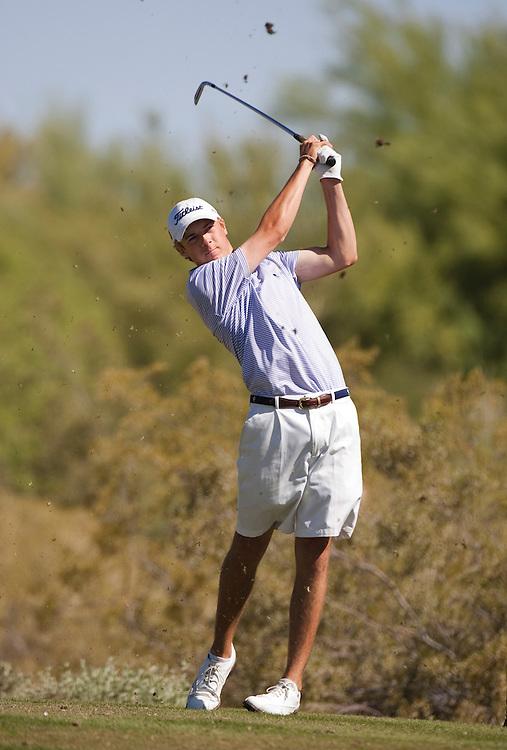 American Junior Golf Association players Jordan Spieth at the Thunderbird International Junior tournament.