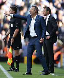 Sheffield Wednesday manager Carlos Carvalhal (left) and Fulham manager Slavisa Jokanovic on the touchline