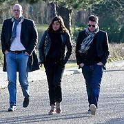 NLD/Amsterdam/20120127 - Uitvaart Jeroen Soer, Martijn Krabbe en partner Amanda Beekman