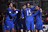 Fotball<br /> EM-kvalifisering<br /> Italia v Færøyene<br /> 21.11.2007<br /> Foto: Inside/Digitalsport<br /> NORWAY ONLY<br /> <br /> Luca Toni celebrate his goal of 2-0