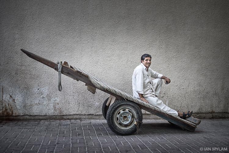 Man with Cart - Deira, Dubai