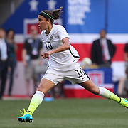 Carli Lloyd, U.S. Women's National Team, in action during the U.S. Women's National Team Vs Korean Republic, International Soccer Friendly in preparation for the FIFA Women's World Cup Canada 2015. Red Bull Arena, Harrison, New Jersey. USA. 30th May 2015. Photo Tim Clayton