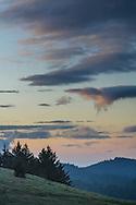 Morning clouds over Castle Rock State Park, Santa Cruz Mountains, Santa Cruz County, California