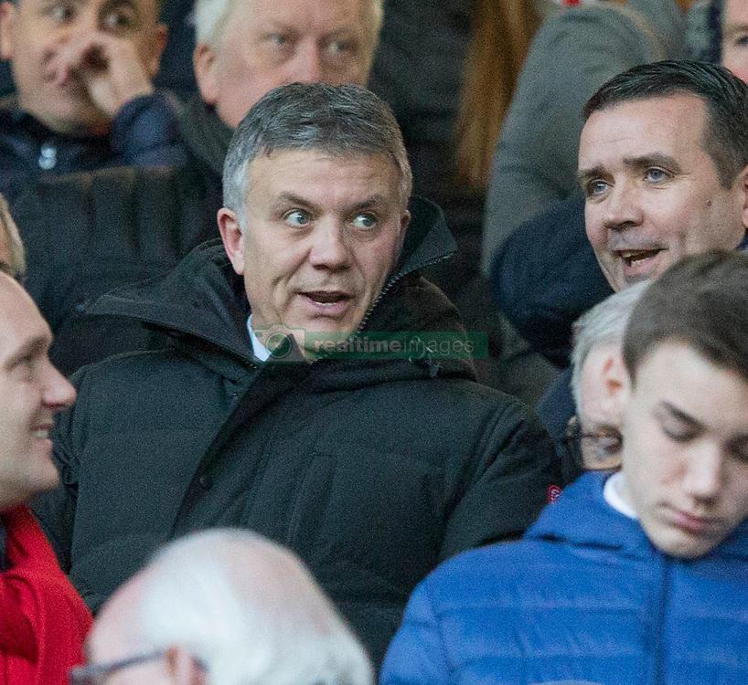 Rangers Mark Allen and Andrew Dickson during the Ladbrokes Scottish  Premiership match at the Ibrox Stadium, Glasgow
