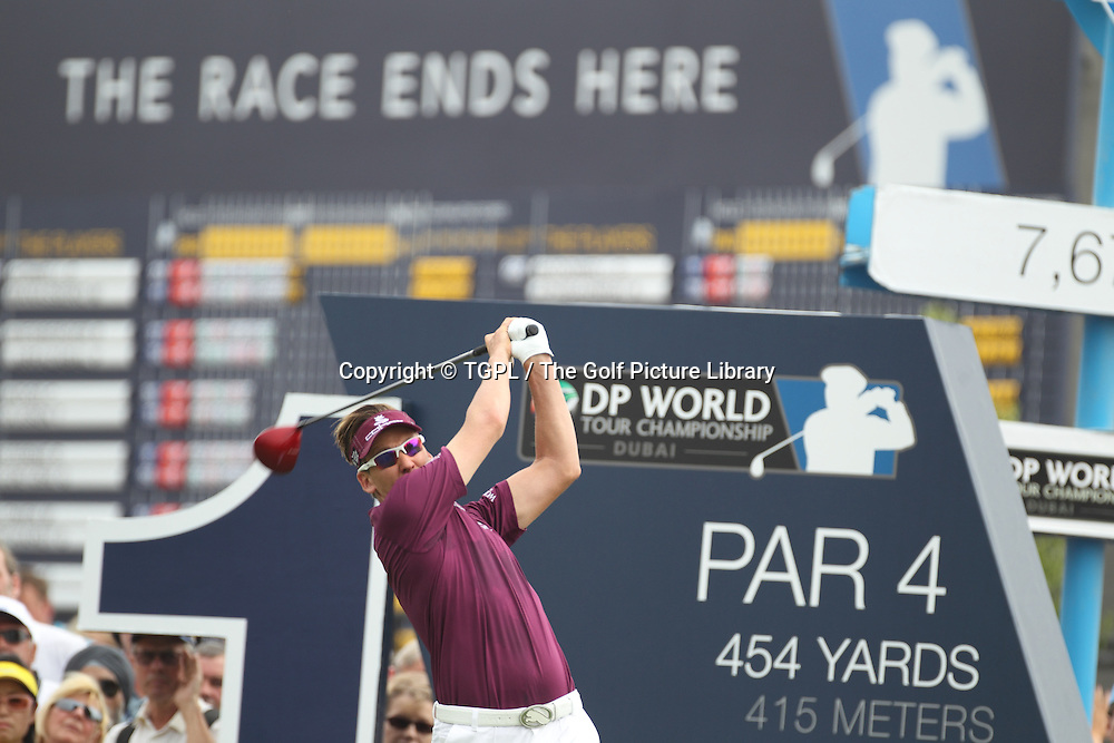 Ian POULTER (ENG) during fourth round DP World Tour Championship 2013,Jemeirah Golf Estates, Dubai,UAE.