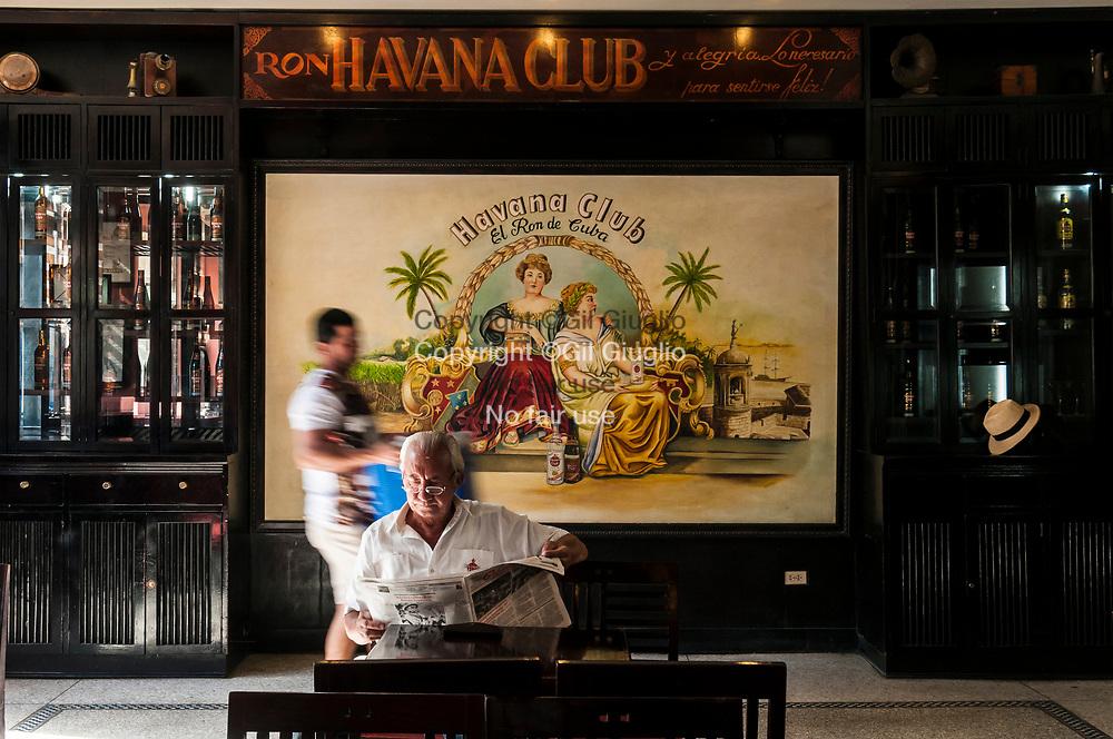 Cuba, La Havane, Habana Vieja, bar du Musée d'état Havana Club// Cuba, Havana, Habana Vieja, bar of Havana Club state museum