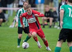 Teddy Bergqvist (FC Helsingør) under kampen i Sydbank Pokalen, 1. runde, mellem Bispebjerg Boldklub og FC Helsingør den 2. september 2020 i Lersø Parken (Foto: Claus Birch).