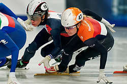 Yara van Kerkhof on 1500 meter semifinals during ISU European Short Track Speed Skating Championships 2020 on January 25, 2020 in Fonix Hall, Debrecen, Hungary