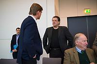 DEU, Deutschland, Germany, Berlin,20.02.2018: Bernd Baumann (MdB, Alternative für Deutschland, AfD), Stephan Brandner, Alexander Gauland, vor Beginn der Fraktionssitzung der AfD-Fraktion im Deutschen Bundestag.