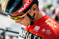 Yukiya Arashiro (JPN) of Bahrain - Merida before3rd Stage of 26th Tour of Slovenia 2019 cycling race between Zalec and Idrija (169,8 km), on June 21, 2019 in Slovenia. Photo by Peter Podobnik / Sportida