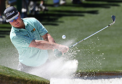 April 8, 2017 - Augusta, Georgia, U.S. - CHARLEY HOFFMAN hits his ball from a sand bunker along the 2nd green during the third round of the Masters Tournament at Augusta National Golf Club. (Credit Image: © Jeff Siner/TNS via ZUMA Wire)
