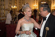 LADY GEORGIE CAMPBELL; EVGENY MINCHEV, The 20th Russian Summer Ball, Lancaster House, Proceeds from the event will benefit The Romanov Fund for RussiaLondon. 20 June 2015