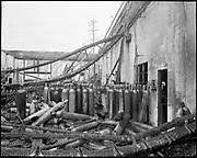 """Liquid Air Inc. Plant interiors to show damage. November 6, 1974"""