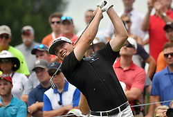 July 15, 2018 - Silvis, Illinois, U.S. - SILVIS, IL - JULY 15:  Bronson Burgoon tees off on the #7 hole during the final round of the John Deere Classic on July 15, 2018, at TPC Deere Run, Silvis, IL.  (Photo by Keith Gillett/Icon Sportswire) (Credit Image: © Keith Gillett/Icon SMI via ZUMA Press)