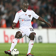 Gaziantepspor's Dany NOUNKEU during their Turkish superleague soccer match Gaziantepspor between Besiktas at the Kamil Ocak stadium in Gaziantep Turkey on Monday 03 October 2011. Photo by TURKPIX