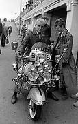 Sting during the filming of Quadrophenia Brighton 1979