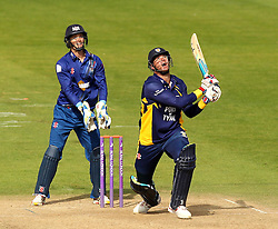 Durham's John Hastings and Gloucestershire's Gareth Roderick watch the ball - Mandatory by-line: Robbie Stephenson/JMP - 07966386802 - 04/08/2015 - SPORT - CRICKET - Bristol,England - County Ground - Gloucestershire v Durham - Royal London One-Day Cup
