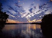 Sunset over Florida Bay, Flamingo, Everglades National Park, Florida.
