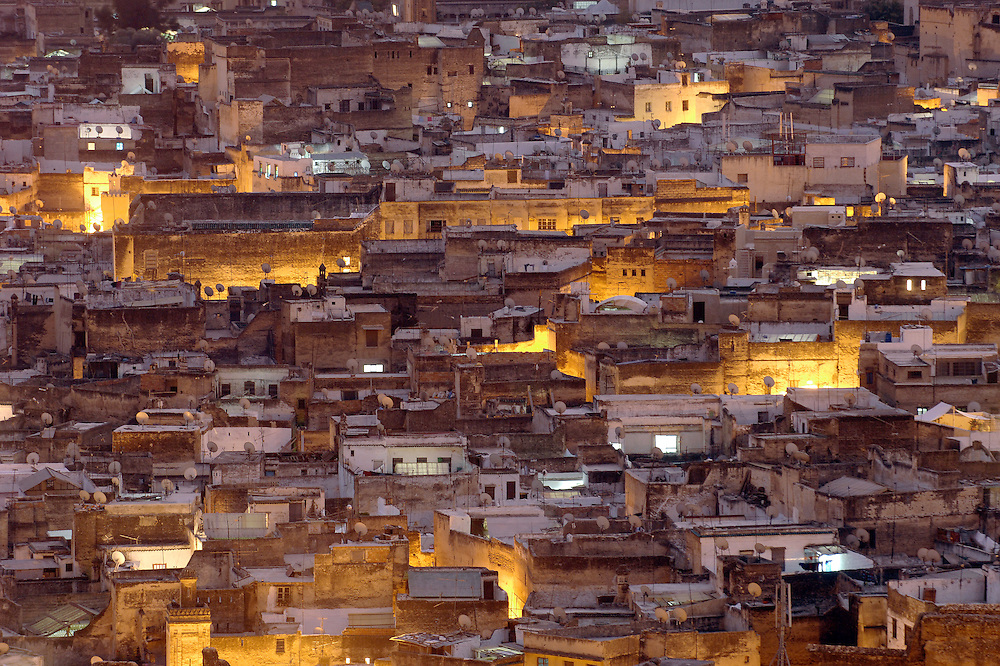 """Fes el Bali, Morocco, 25 October 2006<br /> Fes is one of the four so-called """"imperial cities"""" . <br /> The Medina of Fes is believed to be the largest contiguous car-free urban area in the world. <br /> Fes el Bali is classified as a UNESCO World Heritage Site.<br /> Photo: Ezequiel Scagnetti"""