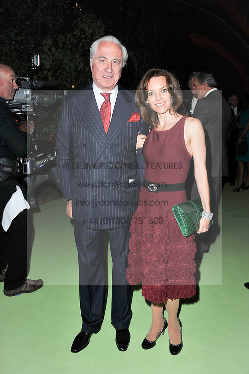 MR & MRS NATHAN GELBER at a dinner hosted by Cartier in celebration of the Chelsea Flower Show held at Battersea Power Station, 188 Kirtling Street, London SW8 on 23rd May 2011.