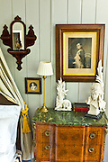 Detail of the  Napolean Room at traditional Quay House Hotel, Clifden, County Galway, Ireland