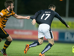 Alloa Athletic's Steven Hetherington and Falkirk's David Smith. <br /> Falkirk 5 v 0 Alloa Athletic, Scottish Championship game played at The Falkirk Stadium.