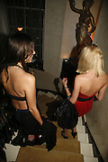 Marina Hanbury and Lady Sophia Hesketh, Biba after-show party organised by Quinessentially.  Royal Duchess Palace, 16 Mansfield Street, London W1. 19 September 2006.  ONE TIME USE ONLY - DO NOT ARCHIVE  © Copyright Photograph by Dafydd Jones 66 Stockwell Park Rd. London SW9 0DA Tel 020 7733 0108 www.dafjones.com