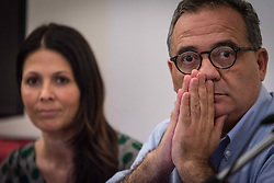 June 13, 2017 - Rome, Italy - Giovanni Caudo during the press conference of municipal councilors of the Democratic Party (PD), request for the suspension of the proposal for the creation of the new stadium in Tor di Valle. (Credit Image: © Andrea Ronchini/Pacific Press via ZUMA Wire)