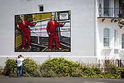 Respect Road 2020 by artists Gilbert & George, one of six images that will be displayed as billboards for the Creative Folkestone Triennial 2020, The Plot on 20th of July 2021, in Folkestone, United Kingdom. Folkestones 5th open air art exhibition The Plot sees 27 newly commissioned artworks appearing around the south coast seaside town. The new work builds on the work from previous triennials making Folkestone the biggest urban outdoor contemporary art exhibition in the UK.