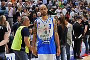 DESCRIZIONE : Beko Legabasket Serie A 2015- 2016 Dinamo Banco di Sardegna Sassari - Manital Auxilium Torino<br /> GIOCATORE : David Logan<br /> CATEGORIA : Ritratto Esultanza Postgame<br /> SQUADRA : Dinamo Banco di Sardegna Sassari<br /> EVENTO : Beko Legabasket Serie A 2015-2016<br /> GARA : Dinamo Banco di Sardegna Sassari - Manital Auxilium Torino<br /> DATA : 10/04/2016<br /> SPORT : Pallacanestro <br /> AUTORE : Agenzia Ciamillo-Castoria/C.Atzori