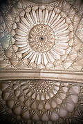 Architectual detail of the plaster work of the ceiling in Safdarjung's Tomb, New Delhi, India.