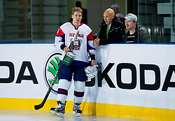 Ales Music, Matej Groselj and Peter Prelc during practice session of Slovenian National Ice Hockey team first time in Arena Stozice before 2012 IIHF World Championship DIV I Group A in Slovenia, on April 13, 2012, in Arena Stozice, Ljubljana, Slovenia. (Photo by Vid Ponikvar / Sportida.com)